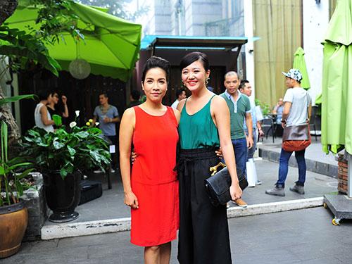 Ca sĩ Mỹ Linh và Văn Mai Hương Ảnh: ZUN PHAN