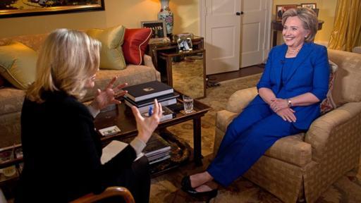 Bà Hillary Clinton (trái) trong cuộc phỏng vấn. Ảnh: Good Morning America