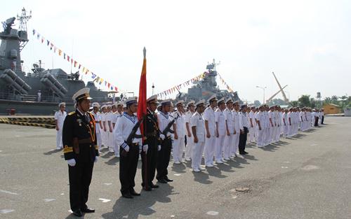 Toàn cảnh lễ tiếp nhận 2 tàu HQ-377 và HQ-378