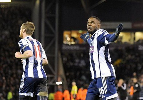 Anichebe ghi bàn gỡ hòa cho West Brom