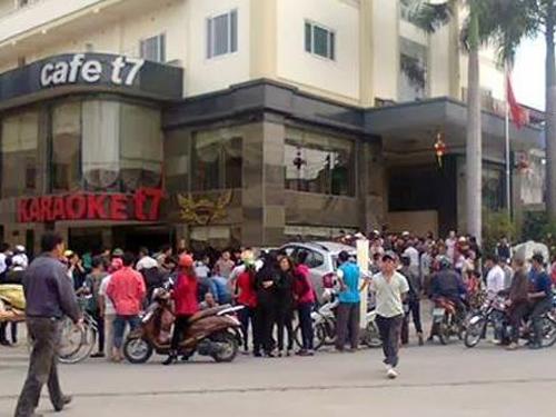 Hiện trường nơi Mai Xuân Quang hung hãn tông xe chết người bảo vệ khách sạn - Ảnh: TPO