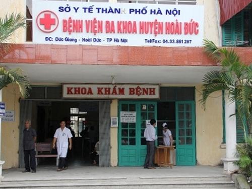 Bệnh viện Đa khoa Hoài Đức, nơi xảy ra vụ việc gây chấn động dư luận cả nước