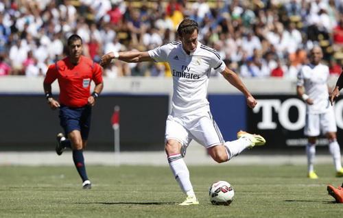 Gareth Bale mở tỉ số trận đấu từ phút thứ 10 cho Real Madrid