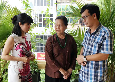 Các diễn viên Nguyệt Hằng, Ngọc Lan, Đức Khuê trong phim