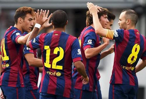Sao trẻ Barcelona lập công trước đối thủ Phần Lan