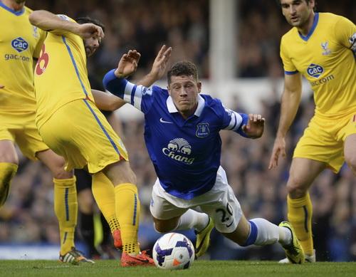 Everton vấp ngã trước Crystal Palace