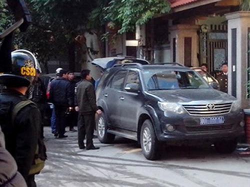 Lực lượng điều tra khám xét và bắt giữ 'ông trùm' Nguyễn Trường Sơn