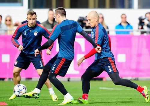 Bayern tích cực chuẩn bị cho trận lượt đi vòng tứ kết với M.U