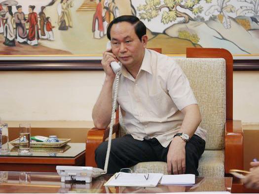 Bộ trưởng Trần Đại Quang khẳng định bảo đảm an ninh, an toàn đối với các tổ chức, DN nước ngoài tại Việt Nam cũng như các DN, công dân Trung Quốc và nước ngoài tại Việt Nam - Ảnh: Cổng TTĐT Bộ Công an