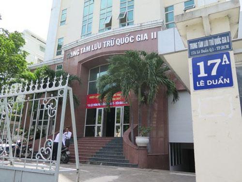 Phông Phủ Thống đốc Nam Kỳ đang được lưu giữ tại Trung tâm Lưu trữ quốc gia II (TP HCM)