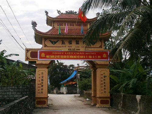 Cổng làng Đông Cao, xã Trung Chính, huyện Nông Cống thuộc dạng bề thế nhất tỉnh Thanh Hóa
