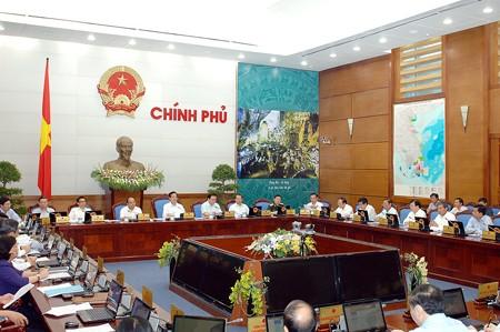 Quang cảnh phiên họp Chính phủ thường kỳ tháng 5, ngày 29-5-2014. Ảnh: VGP
