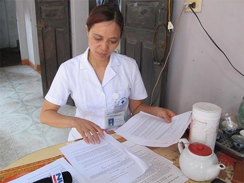 Danh tính chị Hoàng Thị Nguyệt (ảnh) - người đã tố cáo sai phạm tại Bệnh viện Đa khoa Hoài Đức, TP Hà Nội - sẽ được bảo vệ như bí mật nhà nước trong ngành thanh tra - Ảnh: Ngọc Dung