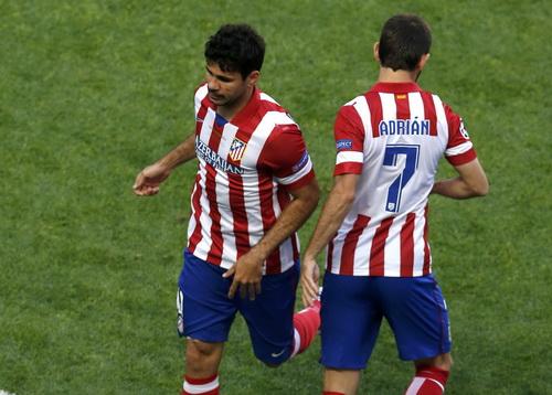 Diego Costa rời sân từ phút thứ 9, để lại nỗi lo cho CĐV Atletico