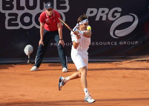 David Ferrer thi đấu đầy quyết tâm ở chung kết ATP Hamburg