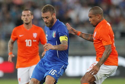 Daniele De Rossi (16) dẫn dắt lối chơi của tuyển Ý