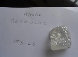 Viên kim cương nặng hơn 153 carat. Ảnh: Awoko