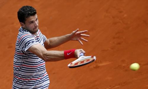 Grigor Dimitrov khởi đầu chật vật ở Rome Open