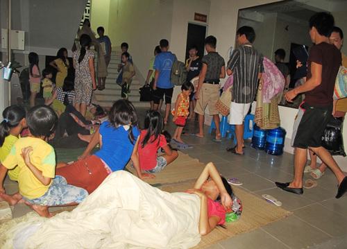 Nhiều người dân đã được chuyển tới nơi trú ẩn an toàn