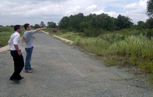 Cỏ dại mọc đầy trên diện tích đất thuộc Dự án khu biệt thự dầu khí - Ảnh: Dân Việt
