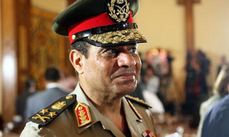 Ông Abdel Fattah el-Sissi tuyên bố sẽ ra tranh cử tổng thống. Ảnh: EPA