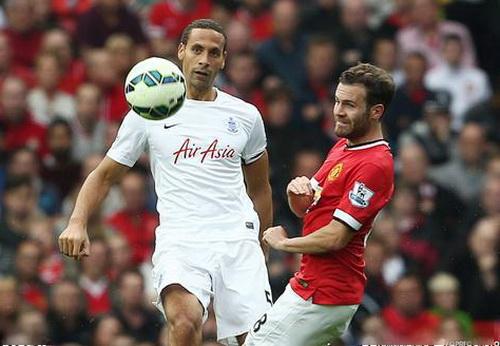 Ferdinand thi đấu khá hay trong màu áo QPR, đối đầu quyết liệt cùng đồng đội cũ