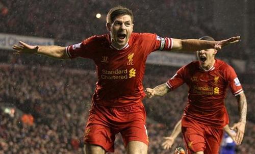 Gerrard mở tỉ số cho chủ nhà Liverpool