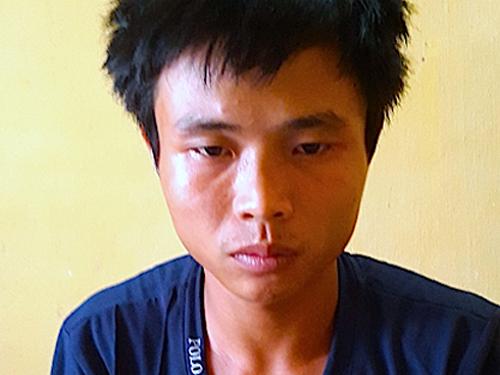 Nghi phạm Nguyễn Văn Toàn tại cơ quan công an