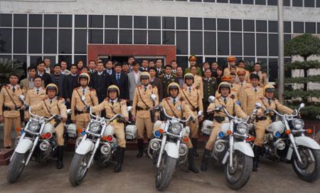 Hà Nội tăng cường CSGT để bảo đảm trật tự an toàn giao thông ở khu vực sân bay quốc tế Nội Bài (Ảnh: C67)