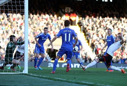 Bàn gỡ muộn màng của John Heitinga chỉ mang ý nghĩa danh dự cho Fulham