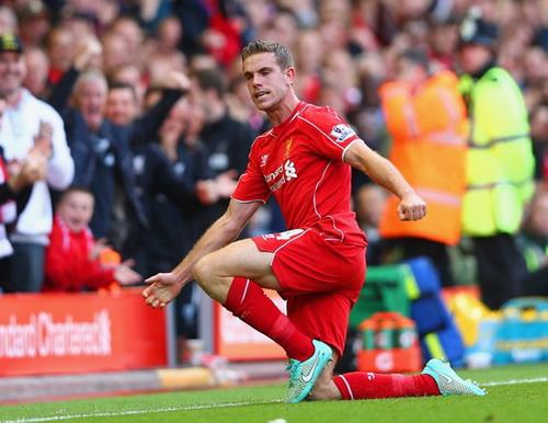 Jordan Henderson ghi bàn ấn định chiến thắng 2-1 cho Liverpool