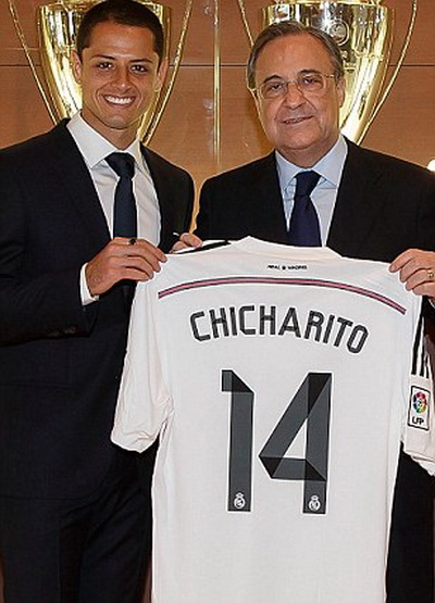 Chicharito cập bến Real Madrid