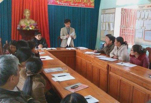 Cuộc họp hội đồng kỷ luật về hành vi tát học sinh của thầy Trần Thế Vinh