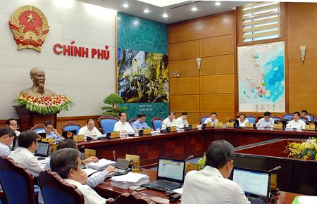 Phiên họp Chính phủ thường kỳ tháng 8-2014