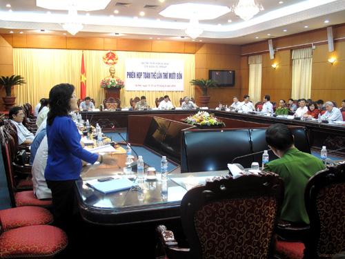 Toàn cảnh phiên họp ngày 13-9 tại Ủy ban Tư pháp của Quốc hội