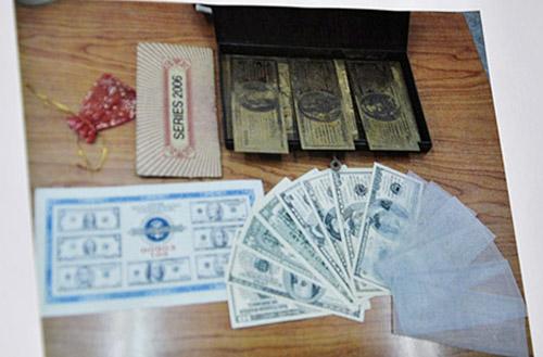 Một số tang vật bị cơ quan điều tra thu giữ khi bắt Nguyễn Thành Chơn - Ảnh: Dân trí