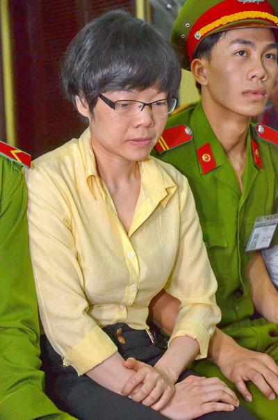 Bị cáo Huỳnh Thị Huyền Như tại tòa ngày 8-1Ảnh: TẤN THẠNH