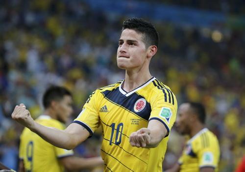 Ở Real Madrid, James Rodriguez sẽ khoác áo số 10 như ở đội tuyển Colombia