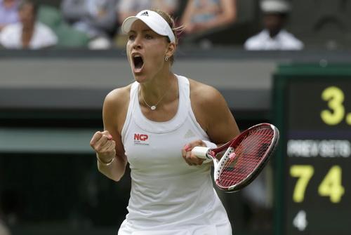 Angelique Kerber đánh bại ứng viên Sharapova