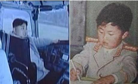 Những hình ảnh hồi bé khá hiếm hoi của ông Kim Jong-un. Ảnh: KCTV