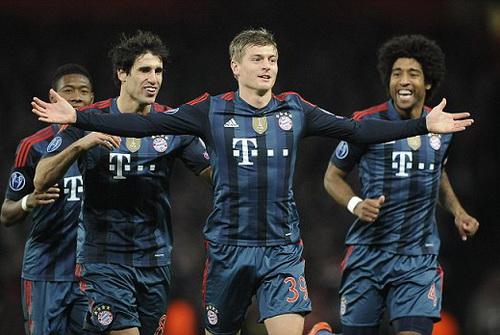 Toni Kroos khi còn khoác áo Bayern mùa trước