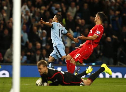 Sergio Aguero cần 23 giây để ghi bàn vào lưới Liverpool