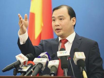 Người phát ngôn Bộ Ngoại giao Lê Hải Bình khẳng định hành động của Trung Quốc ở Hoàng Sa, Trường Sa là bất hợp
