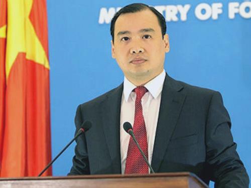 Người phát ngôn Bộ Ngoại giao Việt Nam Lê Hải Bình yêu cầu Campuchia xét xử nghiêm minh những phần tử cực đoan đốt cờ Việt Nam