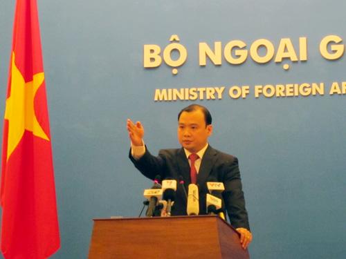 Ông Lê Hải Bình việc Trung Quốc đưa giàn khoan Nam Hải 09 vào khu vực ngoài cửa vịnh Bắc Bộ chưa được phân định giữa Việt Nam và Trung Quốc làm phức tạp thêm tình hình