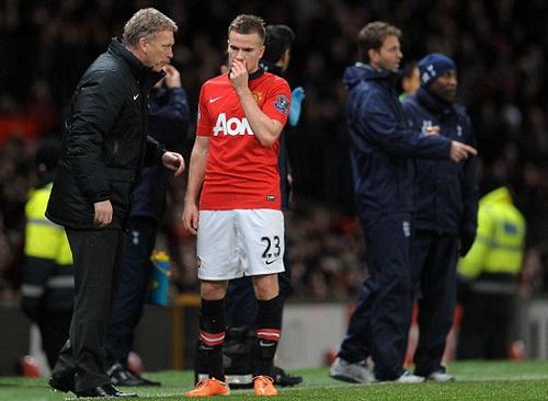 Cleverley thi đấu không nổi bật trong thành phần Man United
