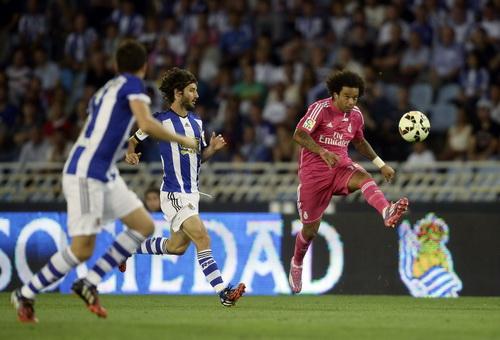 Marcelo đi bóng tấn công, Real sớm nắm lợi thế trận đấu