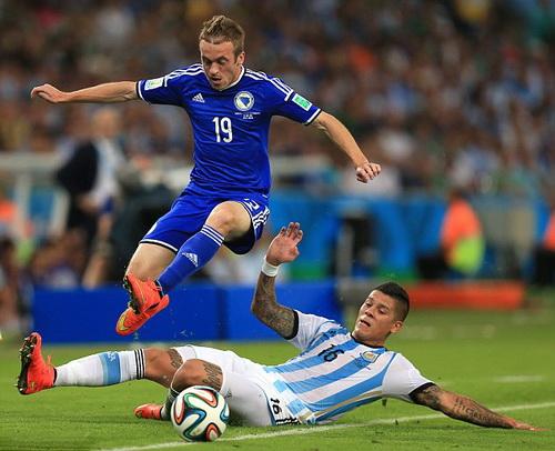 Rojo gây ấn tượng bằng lối chơi quyết liệt, sáng tạo ở tuyển Argentina