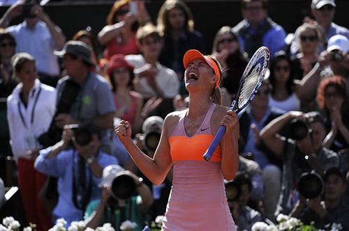 Niềm vui chiến thắng của Sharapova