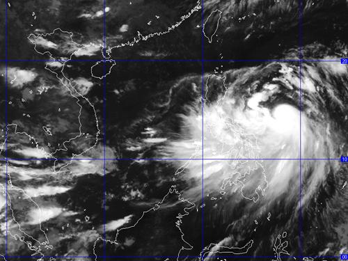 Ảnh chụp mây vệ tinh của bão Kalmaegi - Nguồn: Trung tâm Dự báo Khí tượng thủy văn Trung ương